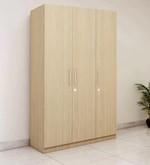 Three Door Compact Wardobe in MDF with Highland Pine Finish