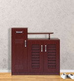 Three door Shoerack in Red Cherry color