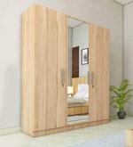 Three Door Wardrobe in Asian Maple Finish in PLPB