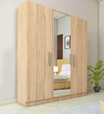Three Door Wardrobe in Asian Maple Finish in PLPB