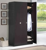 Three Door Wardrobe in Espresso Finish