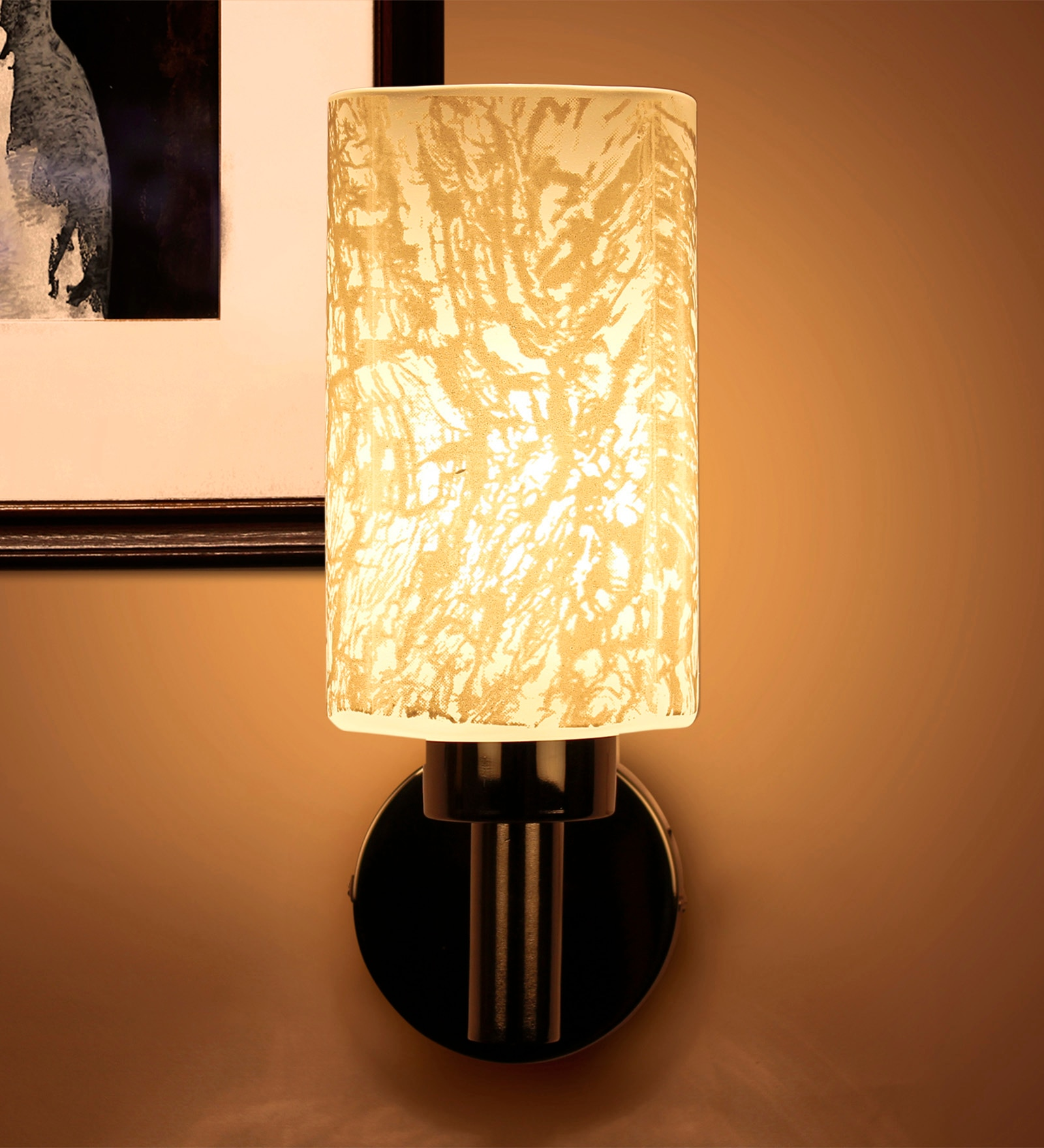 White Glass Wall Light by Kapoor E Illuminations