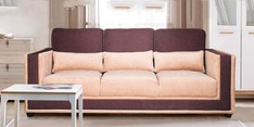 Three Seater Sofa in Beige & Brown Colour