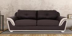 Three Seater Sofa in Coffee Brown Colour