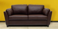 Three Seater Sofa in Dark Brown Colour