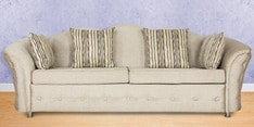 Three Seater Sofa in Ivory Grey Colour