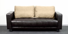 Three Seater Sofa in Light Brown & Brown  Colour