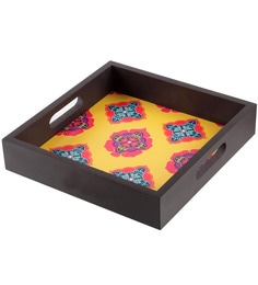 The Elephant Company Tray Yellow Ornamental Splendour