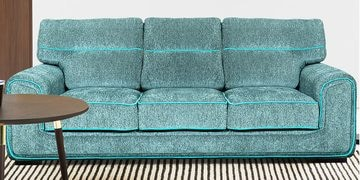 Three Seater Sofa In Turquoise Colour By Furncoms