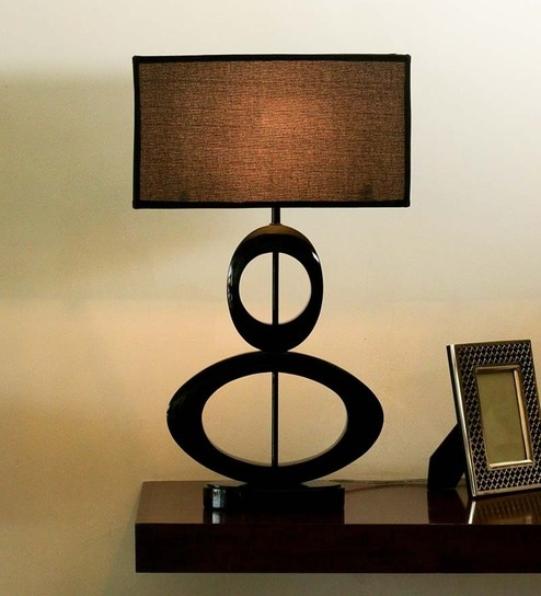 The 7th Galaxy Black Parchment Shade Table Lamp