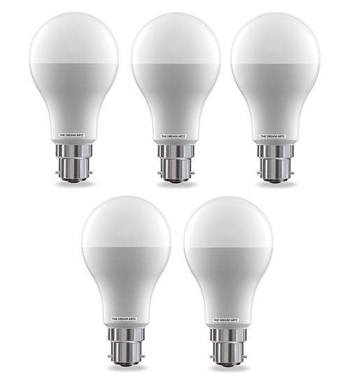 The Dream Artz White 9 Watt Led Bulb - Set of 5