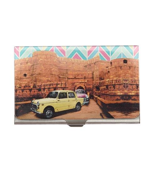 Buy The Elephant Company Dukkar Fiat Steel Multicolour Card Holder