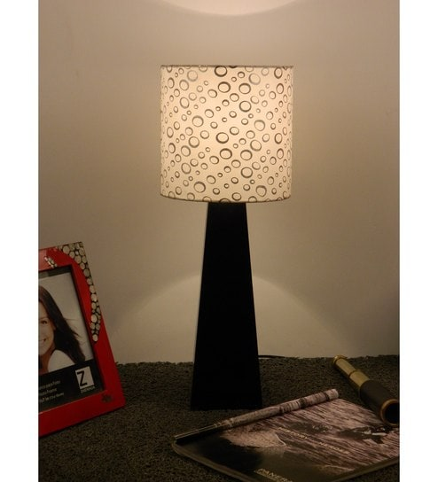 Buy The Lamp Store White & Silver Poly Cotton Lamp Shade Online ...