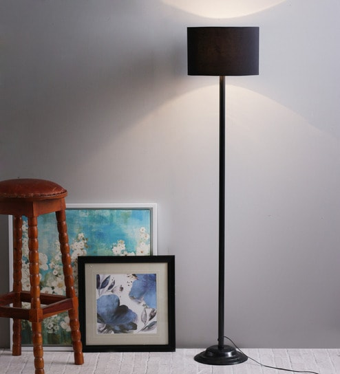 Buy black poly cotton floor lamp by the light house online black poly cotton floor lamp by the light house mozeypictures Gallery