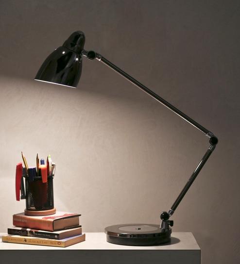 Black Mild Steel Study Lamp By Kapoor E Illuminations