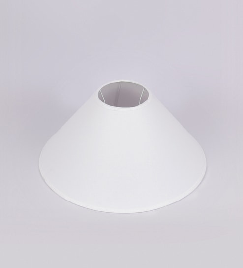 Buy tls by kapoor lampshades white cotton conical lamp shade online tls by kapoor lampshades white cotton conical lamp shade mozeypictures Choice Image