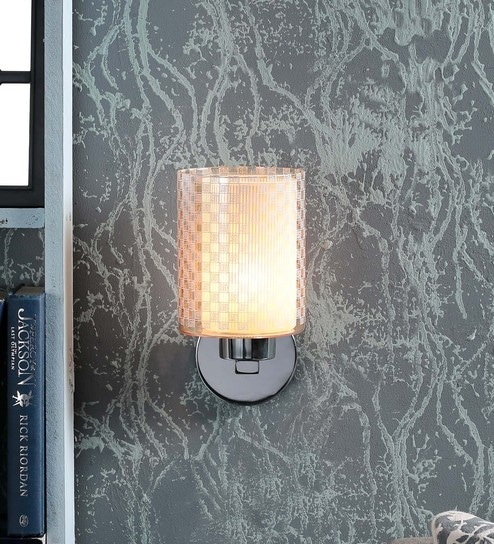 Kapoor E Illuminations White Steel Wall Light