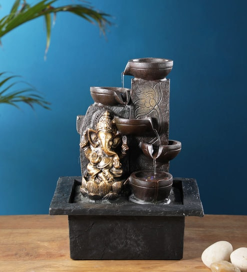 Home Decor Water Fountains.The Lord Ganesha 5 Steps Indoor Water Fountain By The Exclusive Deco