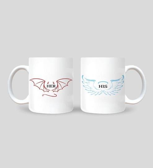 4c5b169d55c Buy Ceramic 250 ML Mug- Set of 2 Online - Slogan Mugs - Mugs - Dining & Bar  - Pepperfry Product