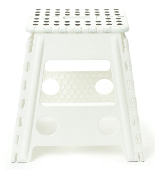 The Quirk Box Plastic 1 3 Ft Foldable Stool For Stepping Up Or Sitting