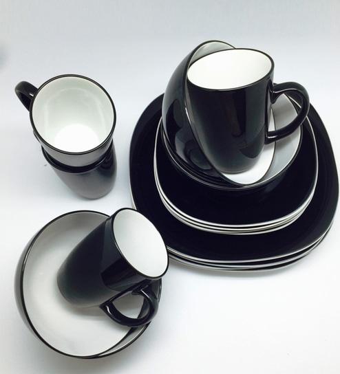 Duo Quadro Stoneware Dinner Set   Set Of 16 By Thomson