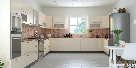 buy thierry u shaped modular kitchen designed in mdf with ivory rh pepperfry com