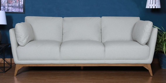 Three Seater Sofa In White Colour - 1613284