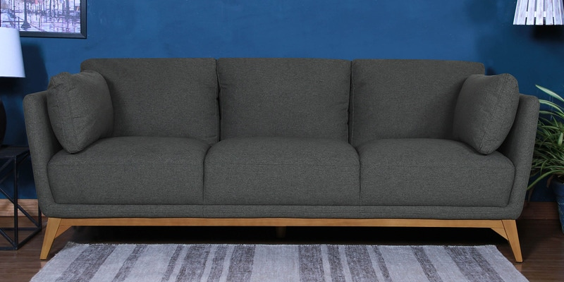 Three Seater Sofa in Grey Colour by Kuka