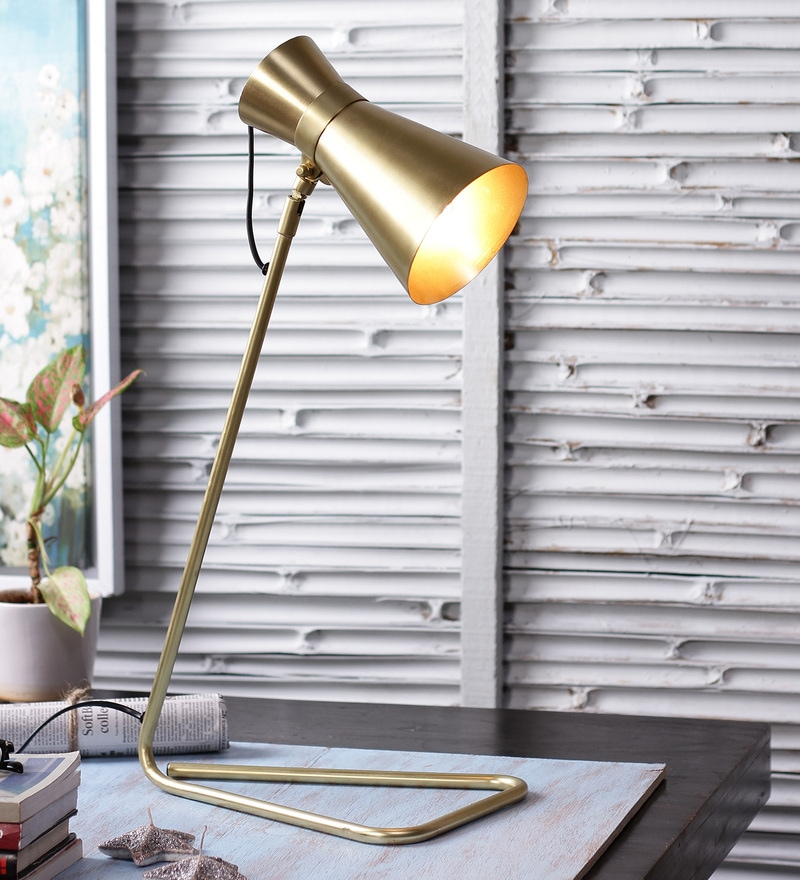 Gold Steel Table Lamp by The Brighter Side