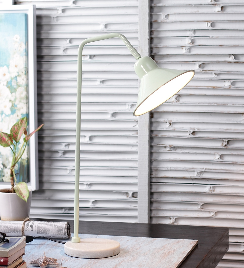 Green Iron Table Lamp by The Brighter Side