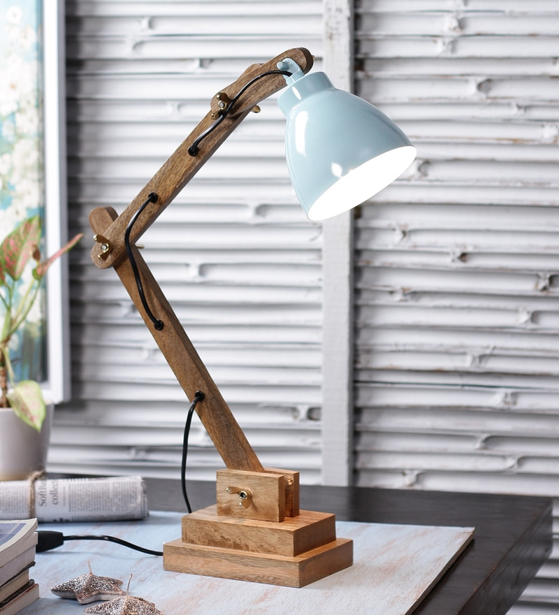 Blue Iron Table Lamp by The Brighter Side