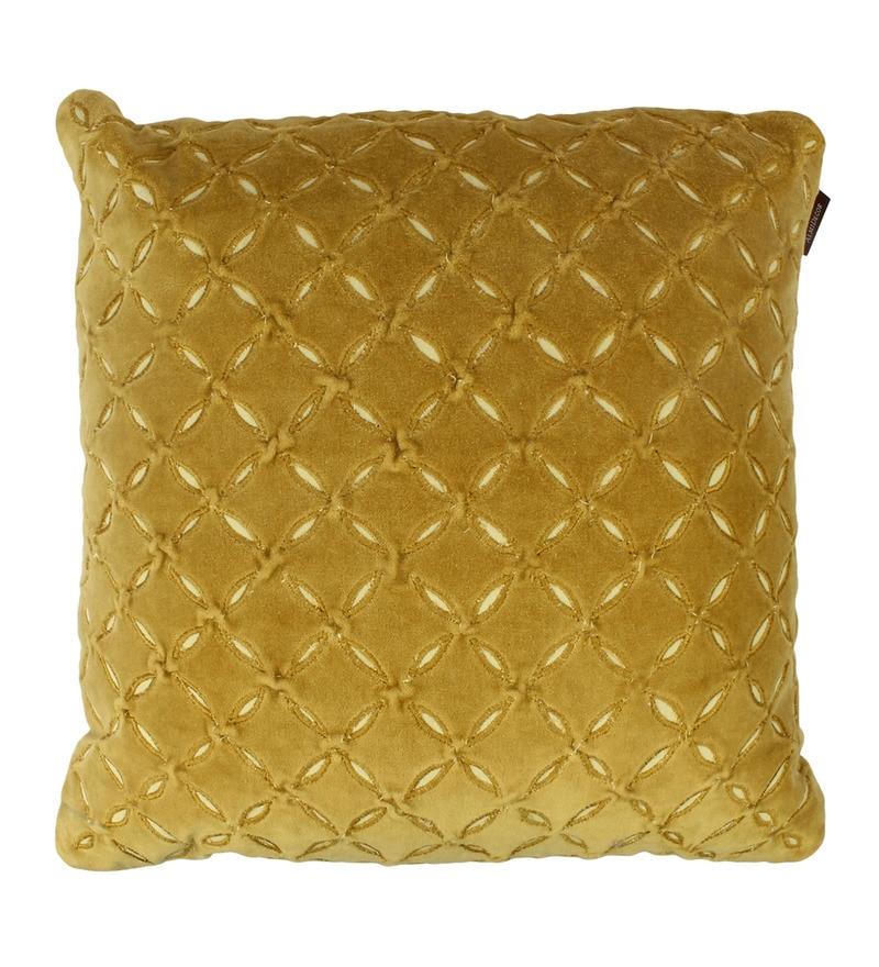 Lime Green Velvet 15 x 15 Inch Cushion Cover by The Decor Mart