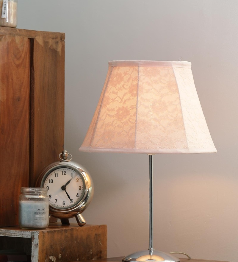 Peach Lace My Fair Lady Lamp Shade by The Good Shade