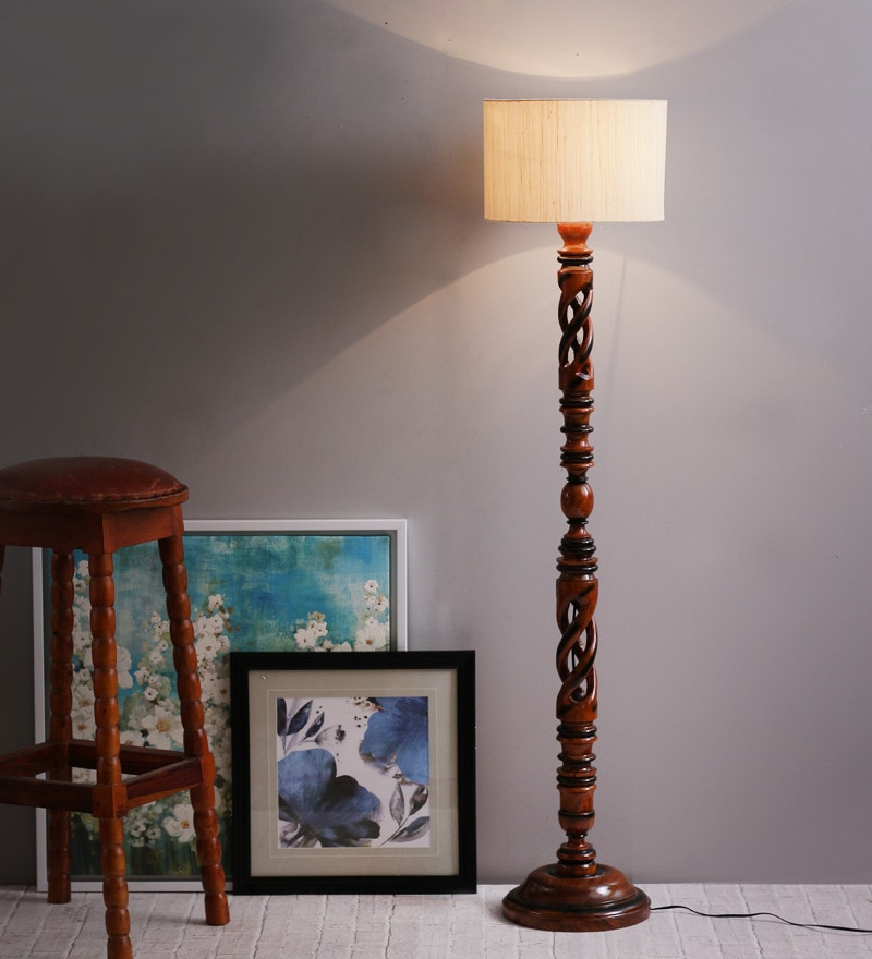 Buy off white twisted wood floor lamp by the light house online click to zoom inout aloadofball Choice Image