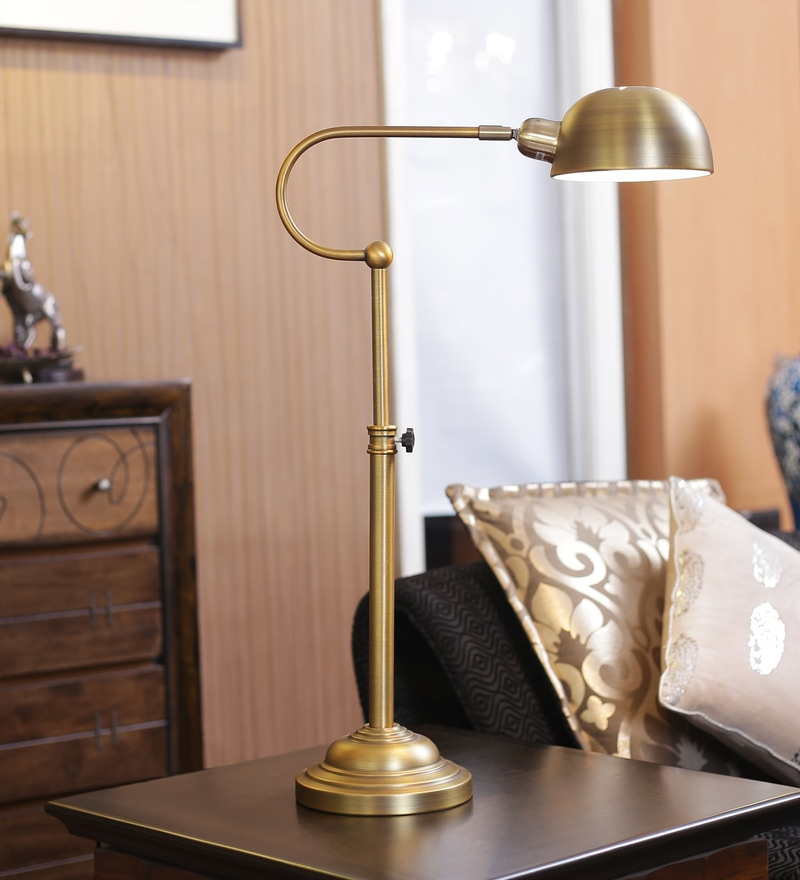 Brass Study Lamp by Kapoor E Illuminations