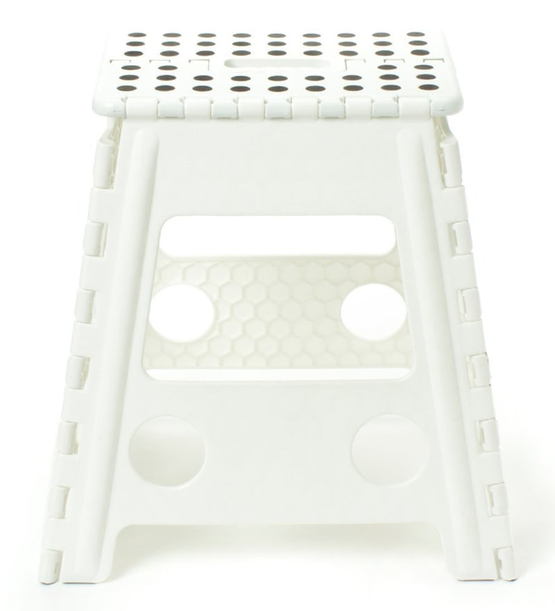 The Quirk Box Plastic 1.3 FT Foldable Stool for Stepping up or Sitting