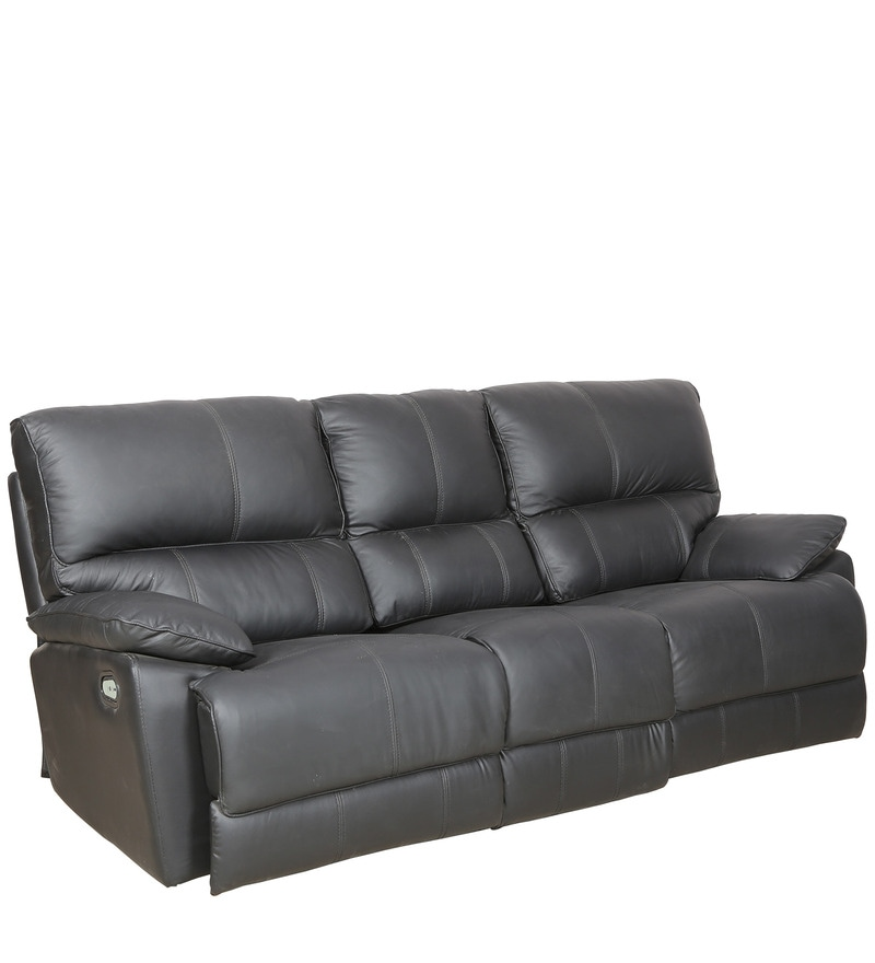 Click to Zoom In/Out. Explore More From Furniture  sc 1 st  Pepperfry & Buy Three Seater Automatic Recliner Sofa in Black Colour by Sofab ... islam-shia.org