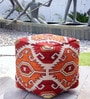 Thar Hand-Made Pouffe in Multicolour Colour by The Rug Republic