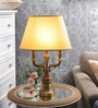 The 7Th Galaxy Beige Parchment Table Lamp