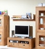 Teodoro Contemporary Wall Shelf in Walnut by CasaCraft