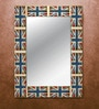 Blue & Red MDF Union Jack Framed Mirror by The Attic