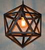 The Black Steel Black Diamond 60W Industrial Pendant Lamp