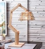 Brown Wood Table Lamp by The Brighter Side