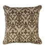 Beige Fabric 17 x 17 Inch Natural Flax Cushion Cover by The Decor Mart