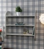 Grey Wooden Designer Wall Shelf By The Decor Mart