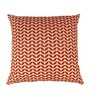 White & Red Cotton 17 x 17 Inch Cushion Cover by The Decor Mart