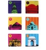 The Elephant Company Acrylic Coaster Indian Monuments - Set of 6