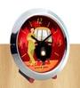 Multicolour Glass & Plastic 5 x 2 x 4 Inch Rickshawala Chrome Alarm Clock by The Elephant Company