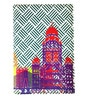 The Elephant Company Modern Cityscape Faux Leather Blue Passport Cover