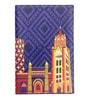The Elephant Company Mumbai Cityscape Faux Leather Blue Passport Cover